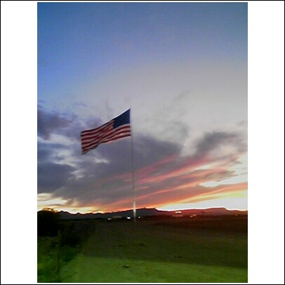 You know you are close when you see our USA flag proudly flying!